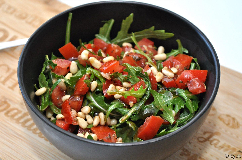Bruschetta salade met rucola