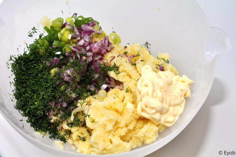 Aardappelsalade met dille en bosui