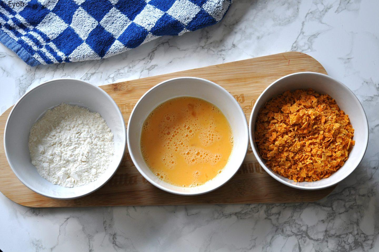 Krokante kipnuggets met Doritos