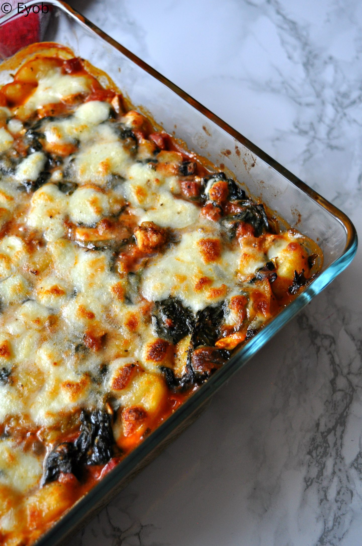 Ovenschotel met Gnocchi en spinazie