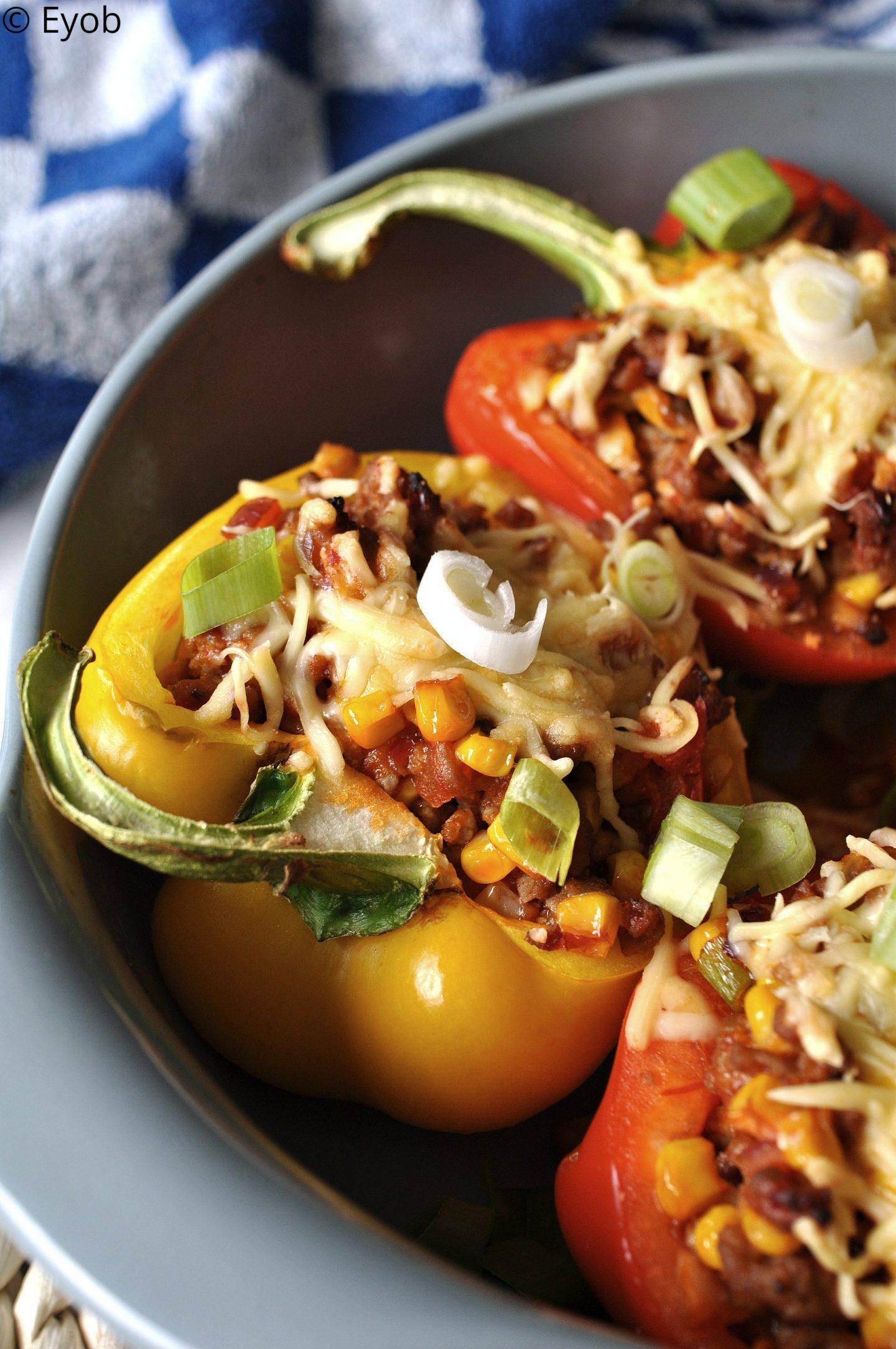 Gevulde paprika met Mexicaans gehakt – Simpel recept
